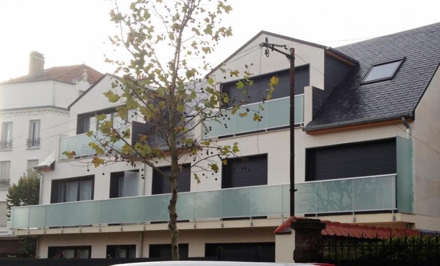 Construction d'un immeuble à Perreux sur Marne par l'architecte Christophe Gauthier