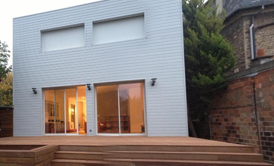 Villa contemporaine, extension et permis de construire en Ile de France