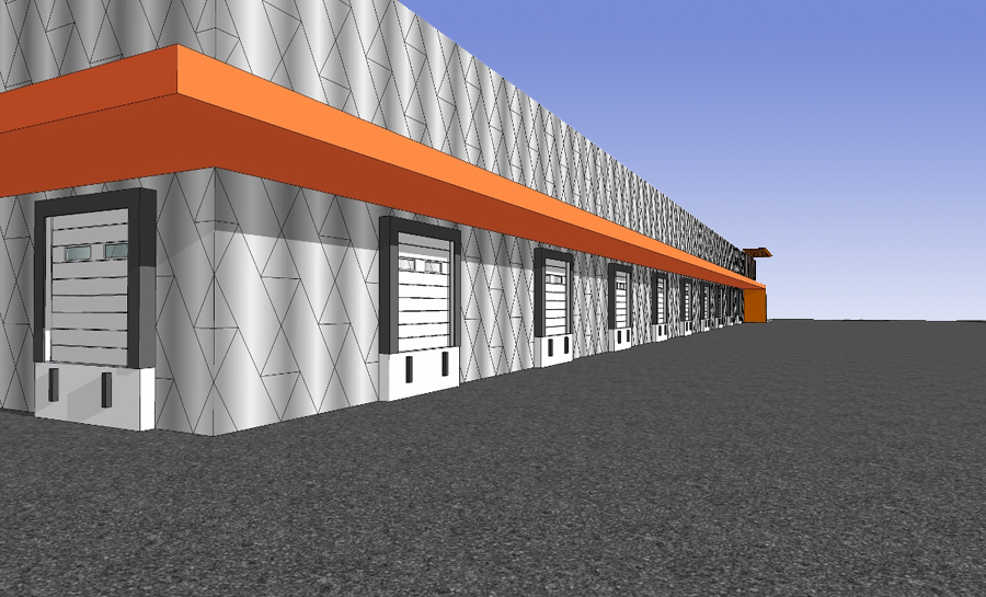 Rénovation d'un bâtiment industriel à Aulney sous bois