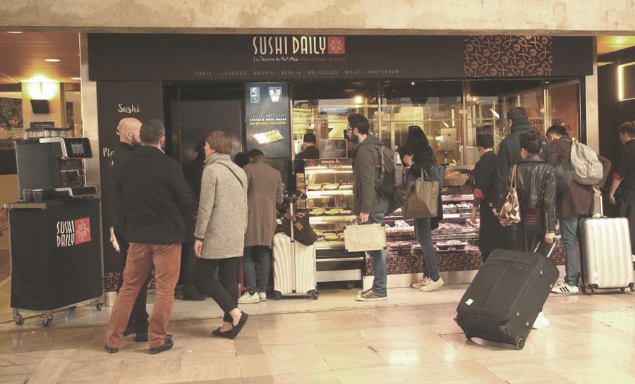 Architecte du restaurant Sushi Daily à la gare Montparnasse
